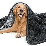Coperta per Cani, Coperta per Cani Gatto, Coperta per Cane/Gatto Lavabile Soffice Durevole, Impermeabile Coperta Cane per Auto Letto Divano, Anti-pipì Coperta Cane e Gatto 150*130cm - Grigio