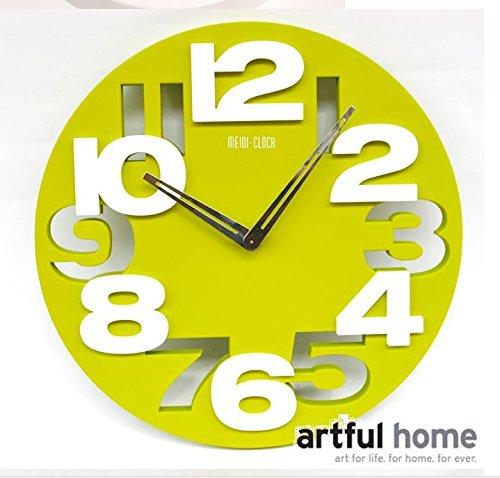 DFFV-Mode créatif salon horloge horloge simple style européen art déco horloges murales (sans pile), 12 pouces,VertCadeau de cadeau de Noël de vacances d'ami cadeau