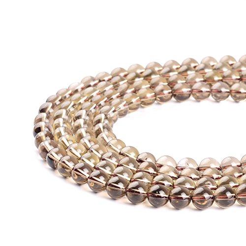 Perles rondes en quartz fumé marron thé 4 mm 6 mm 8 mm 10 mm 12 mm (6 mm)