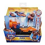PAW PATROL Zuma'S Deluxe Movie Transforming Toy Car con Figura de acción Coleccionable, Juguetes para niños a Partir de 3 años