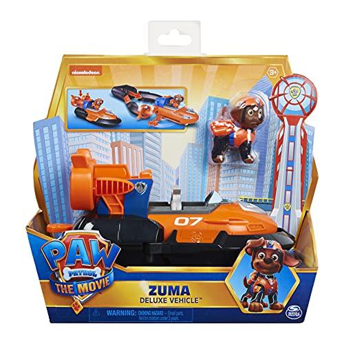 Paw Patrol Zumas Deluxe Basis Fahrzeug aus dem Kinofilm mit Hundefigur, Spielzeugauto, ab 3 Jahren