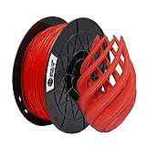 【CCTREE 】純正品 3DプリンタフィラメントPLA 寸法精度+/- 0.02 mm、1.75mm 3Dプリンタおよび3Dペン用PLA(1KG)スプール造形材料PLA材料 (红色)