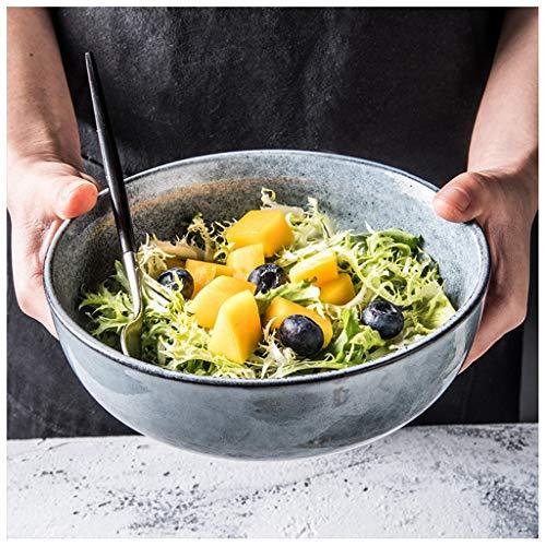 CJW Vaisselle en céramique Vintage Nordic Creative - Assiette à steak, plateau de pâtes, bleu (Taille : 17.5cm)