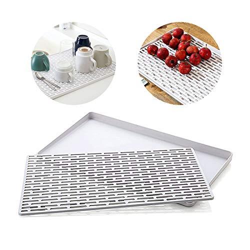 Hebudy - Escurreplatos de doble capa de silicona para secar platos, cuencos, verduras y frutas, utensilios de cocina