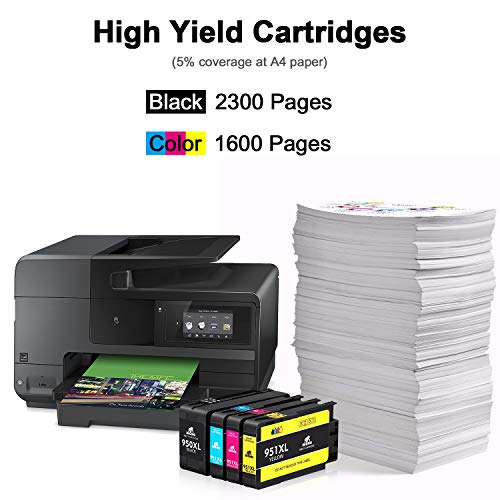 IKONG Compatible Ink Cartridge Replacement for HP 950XL 951XL 950 951 Ink Cartridge Works with HP OfficeJet Pro 8600 8610 8620 8100 8630 8660 8640 8615 8   625 276DW 251DW 271DW