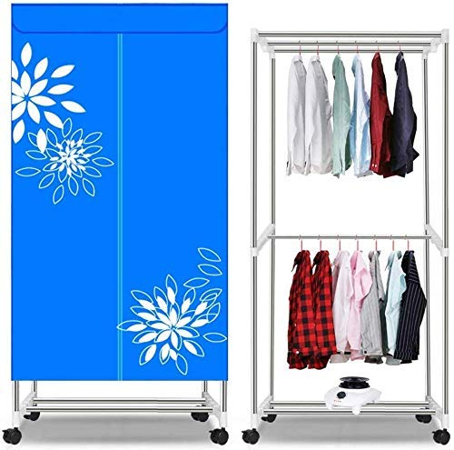 YUIOLIL Dryer Portable Electric Clothes Dryer Drying Rack,1000w Double Layer Clothing Dryers Heater Indoors Drying Wardrobe,Quick Drying and Heating Wraparound Heat Flow