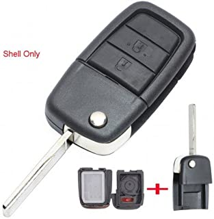 Keyecu Flip Remote Key Shell Case Fob 2+1 Button for Holden VE COMMODORE Omega Berlina Calais SS SV6 HSV GTS (Shell Only)