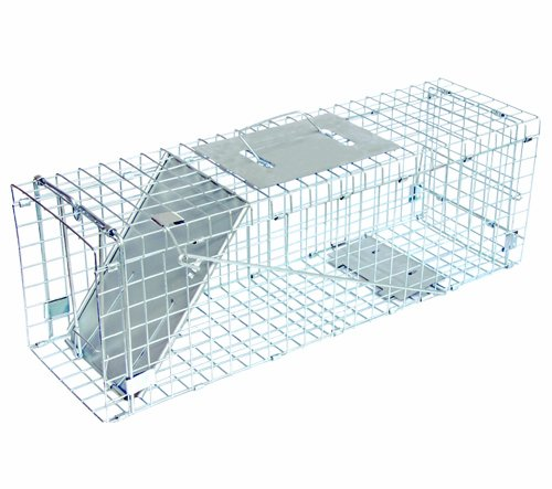 """Answer Single Door Live Animal Cage Trap for Medium Size Pests, 24"""" x 7"""" x 8"""" - JT Eaton 465N"""