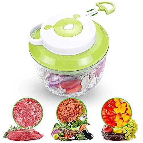 Song 100ML Manual Food Chopper Fleischwolf Handgemüsehacker Mit 3 Klingen Multifunktion Für Gemüse Und Fleisch