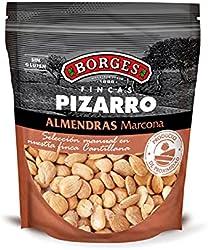 Borges - Almendras Marcona Fritas Sin Sal Fincas Pizarro - Con Alto Contenido En Vitamina E, Fósforo