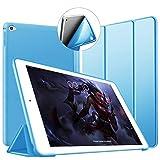 VAGHVEO iPad Mini4 ケース 超薄型 超軽量 TPU ソフトスマートカバー オートスリープ機能 衝撃吸収 三つ折りスタンド for Apple Mini 4 (2015) 7.9 インチ (ブルー)