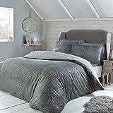 Sleepdown Juego de sábanas de Forro Polar Acanalado, Color Gris