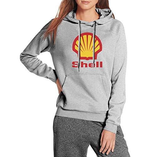 Women Cool Hooded Sweatshirt Shell-Gasoline-Gas-Station-Logo- with Pocket Gray Hoodie Jacket