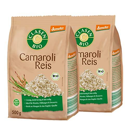 2x CLASEN BIO Carnaroli Reis Premium Demeter Qualität Perfekt für Risotto - 500 g