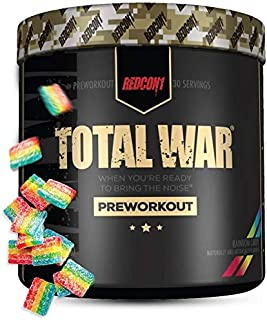 Redcon1 Total War - Pre Workout, 30 Servings, Increase Energy, Increase Endurance and Focus, Beta-Alanine, 350mg Caffeine,...