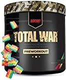 Redcon1 Total War - Pre Workout, 30 Servings, Increase Energy, Increase Endurance and Focus, Beta-Alanine, 350mg Caffeine, Nitric Oxide Booster - Keto Friendly (Rainbow Candy, 30 Servings)