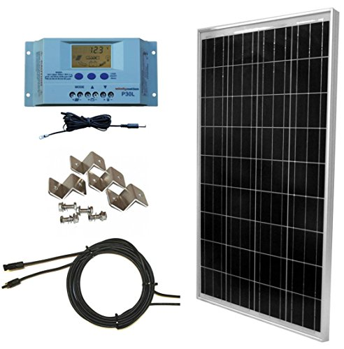 WindyNation 100 Watt Solar Home Solar Power Kit