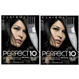 Clairol Nice 'n Easy Perfect 10 Permanent Hair Dye Kit, Black, 2 Count