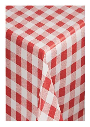 THE TABLECLOTH SHOP Red Gingham Vinyl Tablecloth Table Cover 2 Metres by Tablecloth Shop