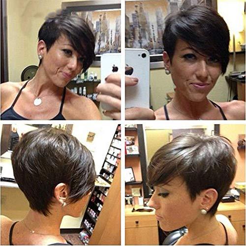 Court Afro Directement Perruques Pixie Cuts Synthétique Perruques pour Noir Femmes Naturel Court Noir Cheveux Perruques Chaleur Résistant Fibre 11\