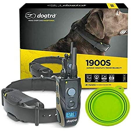 Dogtra 1900S E Collar Training for Dogs - 3/4 Mile Remote Trainer with LCD Screen - Fully Waterproof Collar - with eOutletDeals Value Bundle