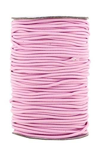 Mandala Crafts Elastic Cord Stretchy String for Bracelets, Necklaces, Jewelry Making, Beading, Masks (Baby Pink, 2mm 76 Yards)