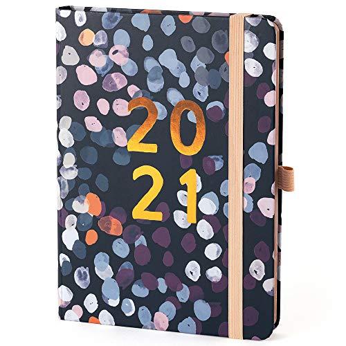 Boxclever Press Perfect Year A5 Kalender 2021 mit Seitenreitern. Wochenplaner von Jan.-Dez.'21. Schöner Terminplaner 2021 mit monatlichen Planungsseiten, Notizseiten, Listen und mehr