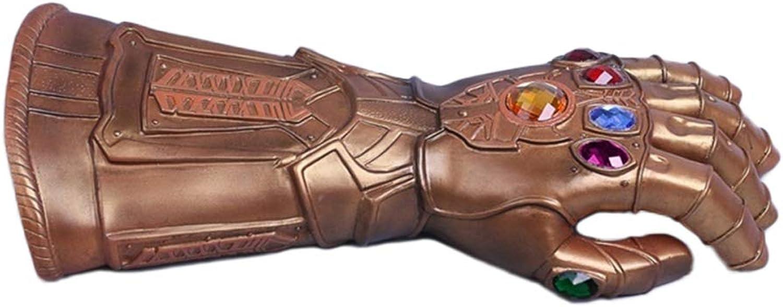 QQWE Die Avengers Thanos Infinity Handschuhe Marvel Filme Spiele Requisiten Cosplay Hand Latex Handschuhe,HardPVC-OneGröße