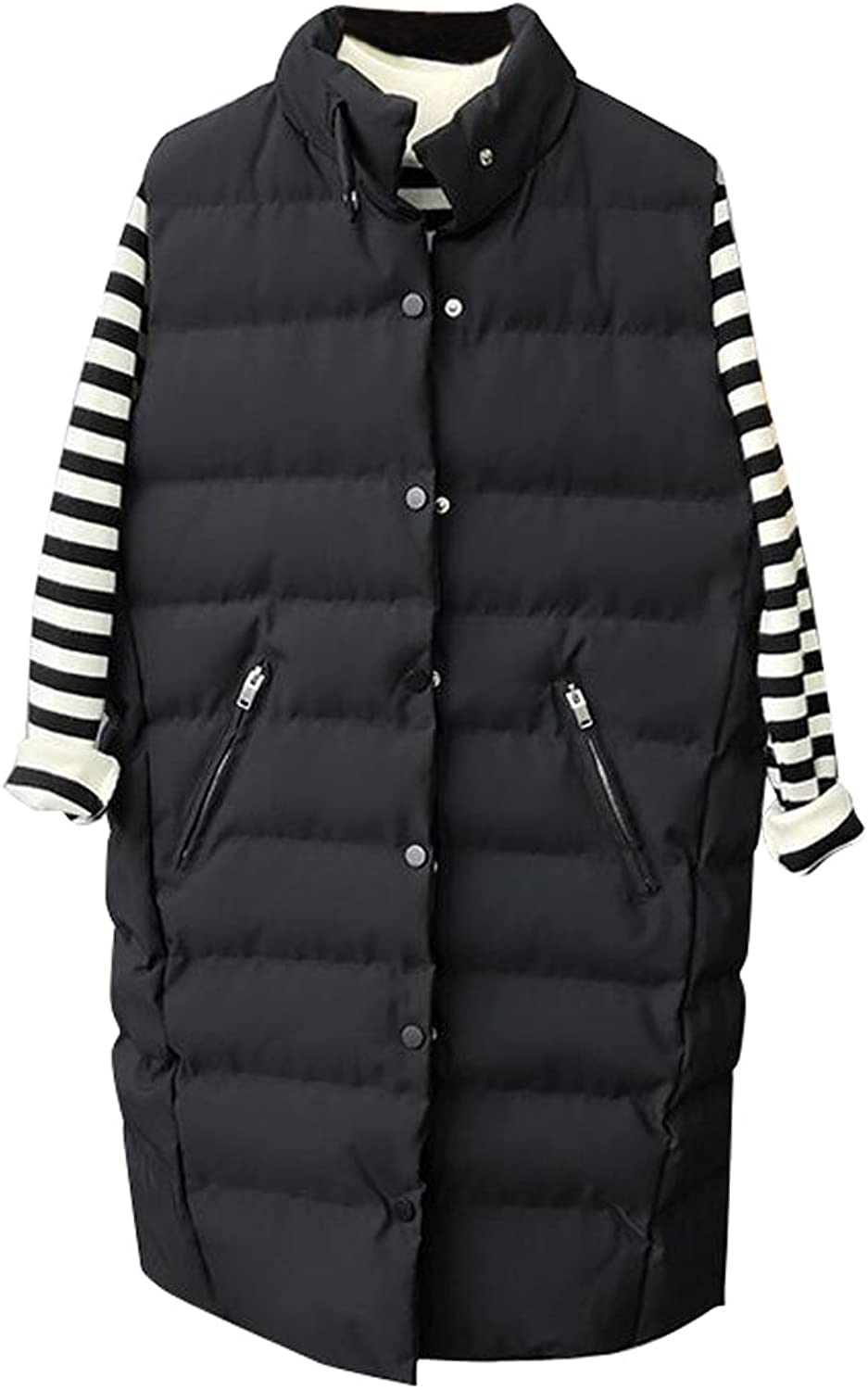 LD Womens Winter Plus Size Sleeveless Down Quilted Puffer Vest Waistcoat