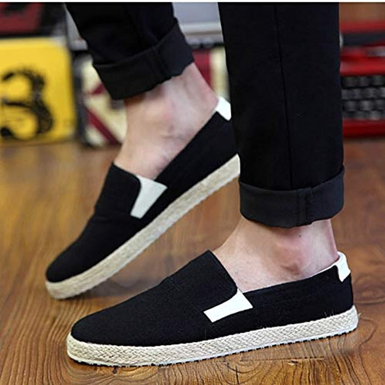 Anstorematealliance Outdoor&Sports shoes Low-top Breathable Business Casual shoes for Men (color Black Size 39)