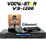 Vocal Star VS-1200 CDG DVD HD Karaoke Machine, 2 Pin EU Plug, 2 Microphones and Top Party Songs...