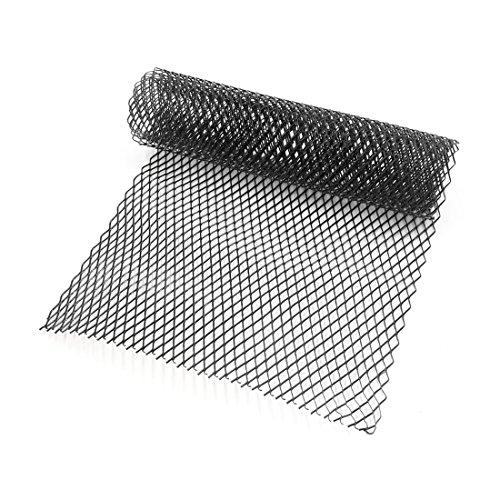 Zantec 10 x 20 mm de voiture grille Grille d'aération en maille en alliage d'aluminium pare-chocs avant dodécaèdre Grill Feuille abrasive en maille, noir