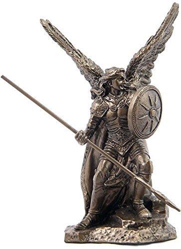 Statue, Erzengel Raphael, kaltguss, 9 cm, bronzefarben