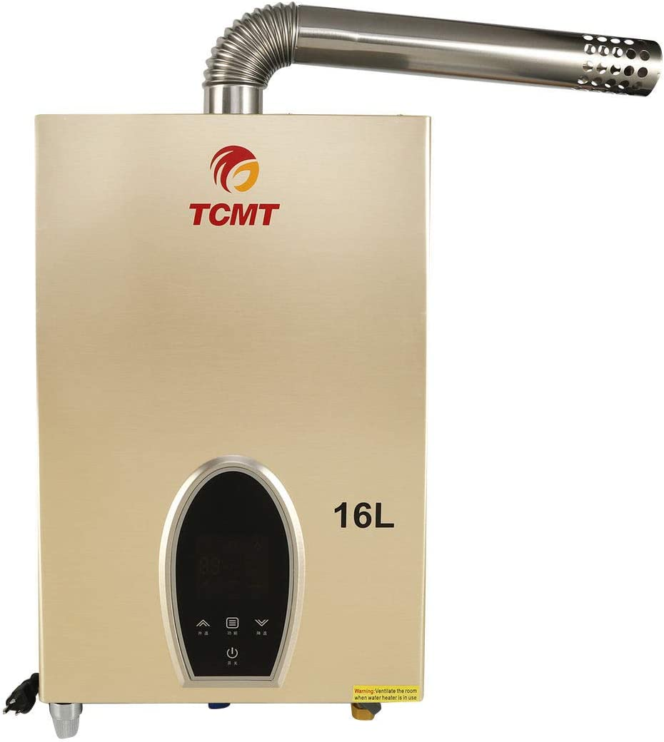 TC-Home 16L Natural Gas Tankless Water Heater Washington Mall Consta Touchscreen Time sale