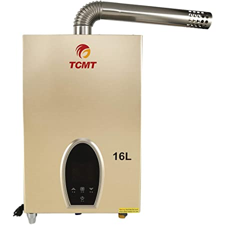 16L Natural Gas Instant Tankless Water Heater Electric Touch Screen Thermostat