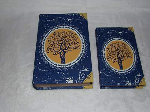 Signes Grimalt - Juego de 2 Cajas de Madera Falsas con diseño de árbol