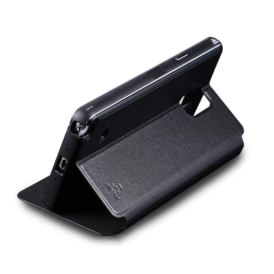 大腿ラダ麻痺させるTonglilili 電話ケース、革ケース新しいメタル電話ケースハイエンド落下防止カバー電話ケースサムスン注3、注4、注5、S5、S6 (Color : 黒, Edition : Note3)