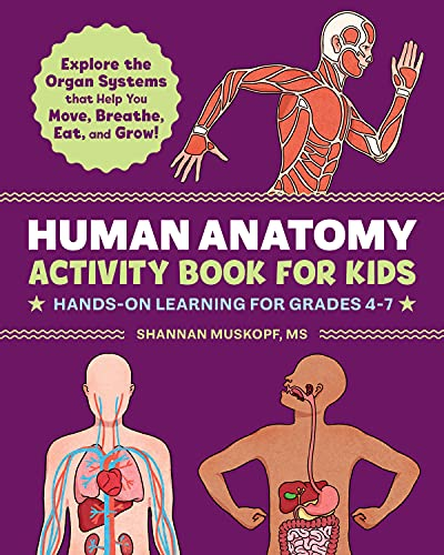 Human Anatomy Activity Book for Kids: Hands-On Learning for Grades 4-7
