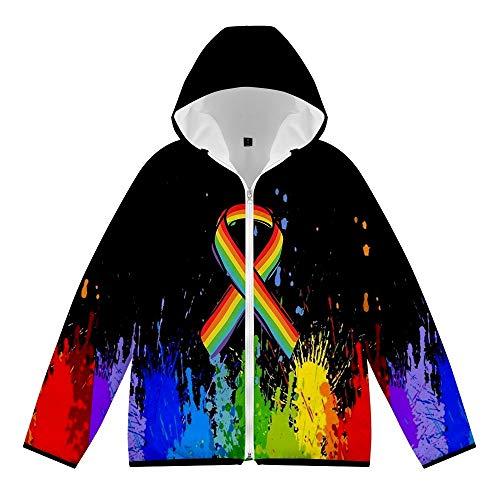 Algodón Chaqueta Lgbt Homosexual Orgullo Mes Invierno Calentar Abajo Más Talla Cremallera Cárdigan Chaqueta Vistiendo Cómodo / A6 / XL