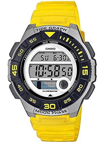 Casio Reloj Digital para Mujer de Cuarzo con Correa en Resina LWS-1100H-9AVEF