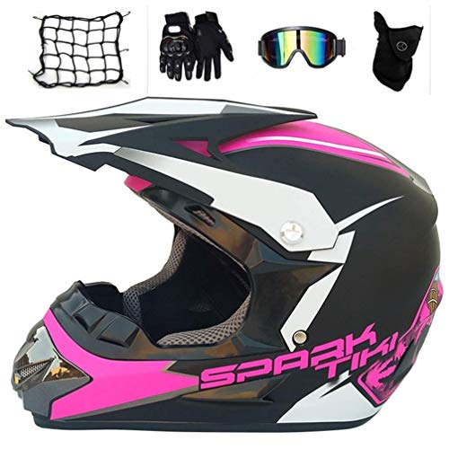 Jidesheying Casco Motocross Mujeres Casco Neto Gafas