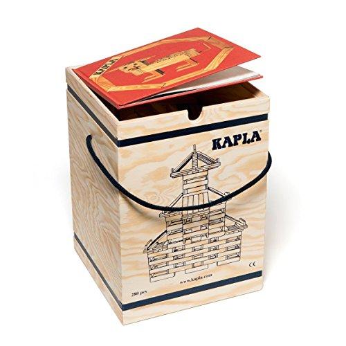 Kapla 280 Holzkiste mit Kunstbuch Rot (6+)