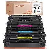 MYTONER Tóner compatible con HP 201X CF400X para HP Color Laserjet Pro MFP M277dw MFP M277n MFP M274n M252n M252dw (negro, cian, magenta y amarillo)
