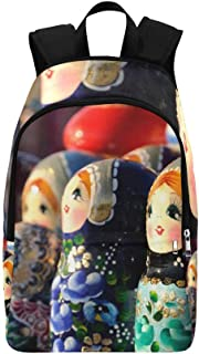 Colorful Russian Nesting Dolls Casual Daypack Travel Bag College School Backpack for Mens and Women