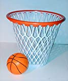 WG Commerce Basketball Hoop Wastebasket with Free Mini Basketball