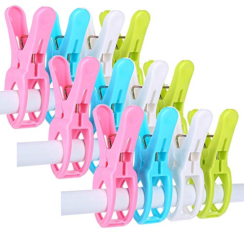 IELEK Beach Towel Clips Cruise Chair Holder Double Thickness Fashion...