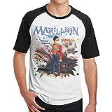 WoodWorths T-Shirt Fitness T-Shirt Contraste(M,Noir) Marillion Misplaced Men