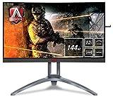 AOC Monitores AG273QCX - Pantalla para PC Curvo de 27\' UHD 2K (resolución 2560 x 1440 Pixels, 144 Hz, 1ms, FreeSync 2, FlickerFree, LowBlue Mode, Altavoces, VESA, VGA, HDMI, Displayport, USB)