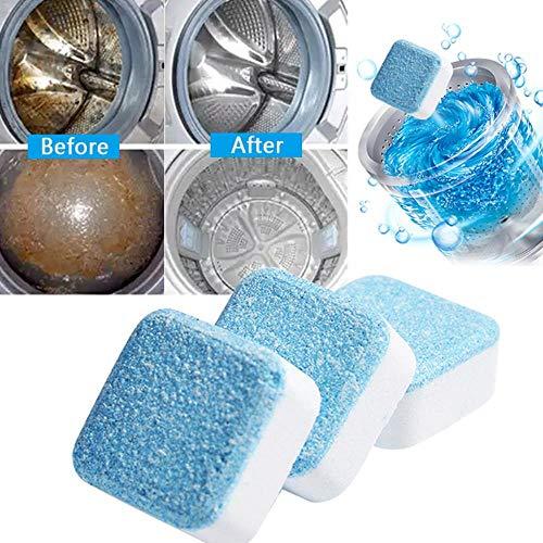 SSXCO 1/4 Onglet Machine à Laver, nettoyant pour laveuse, nettoyant, nettoyant pour Nettoyeur de tablettes effervescent, 1pcs, France
