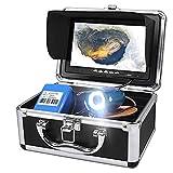Video de Cámara de pesca Submarina, Sistema de Visualización de Buscador de peces portátil con Grabadora DVR, Cámara a prueba de agua IP68 y Monitor LCD en Color de 7 'con Cable de 30 m para la pesca